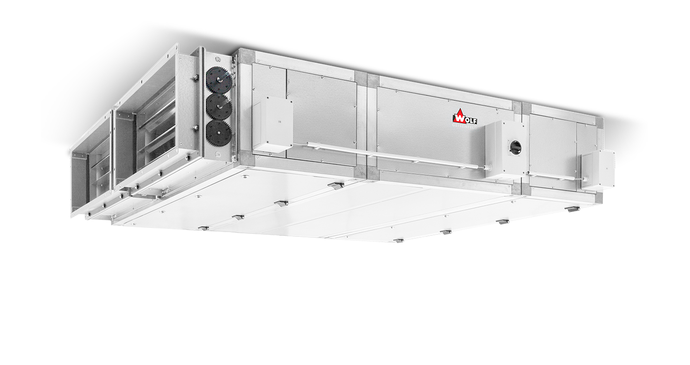 WK-com F air handling units with flat construction
