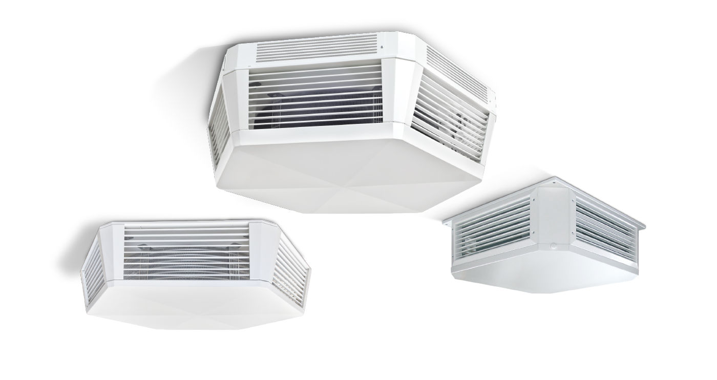 WOLF ceiling mounted ventilation units