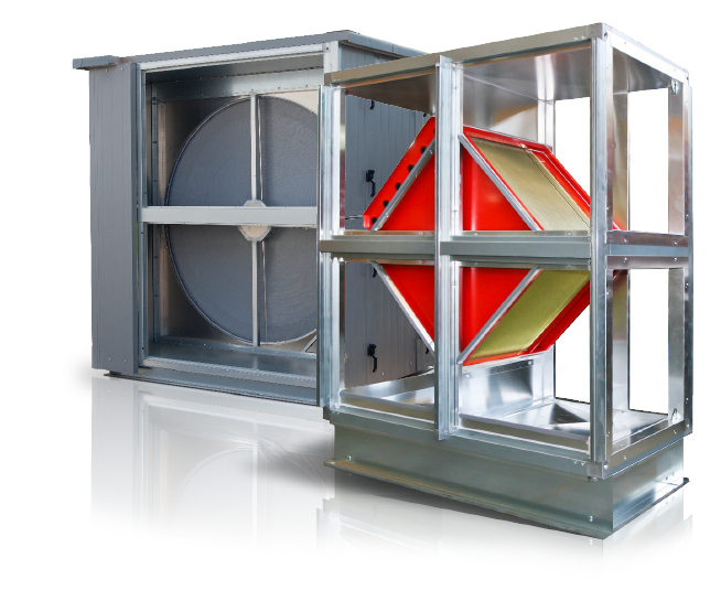 Rotary heat exchanger for heat and humidity recovery  with high efficiency / Plate heat exchanger